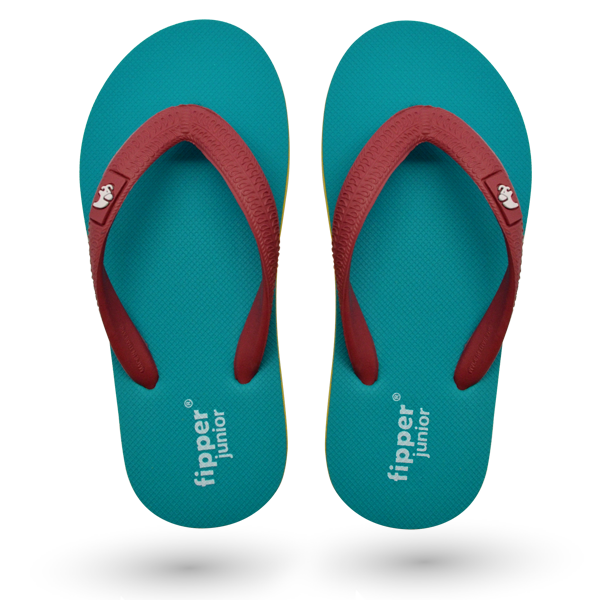 Fipper Junior Turquoise / Yellow / Peach (Dark)