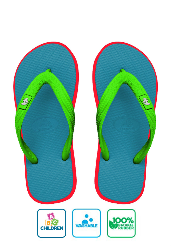 Fipper Kids Turquoise / Pink (Shock) / Green (Apple)
