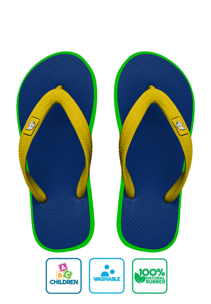 Fipper Kids Blue / Green (Apple) / Yellow