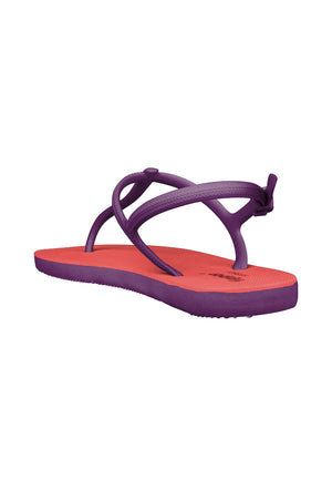 Load image into Gallery viewer, Fipper Strappy Peach / Purple
