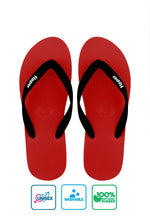 Fipper Slick Rubber for Unisex in Red / Black