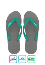 Fipper Slick Rubber for Unisex in Grey / Turquoise
