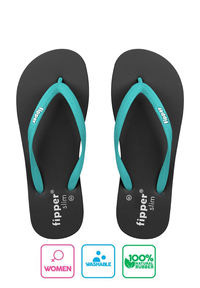 Load image into Gallery viewer, Fipper Slim Black / Turquoise