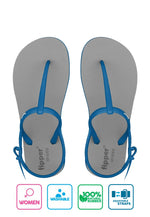 Fipper Strappy Grey / Blue (Sky)