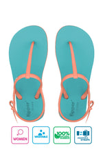 Fipper Strappy Turquoise / Peach