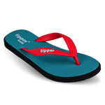 Fipper Wide Turquoise / Black / Red