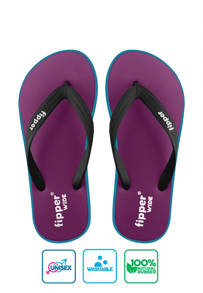 Fipper Wide Magenta / Turquoise / Black