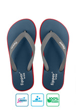 Fipper Wide Blue (Snorkel) / Red / Grey