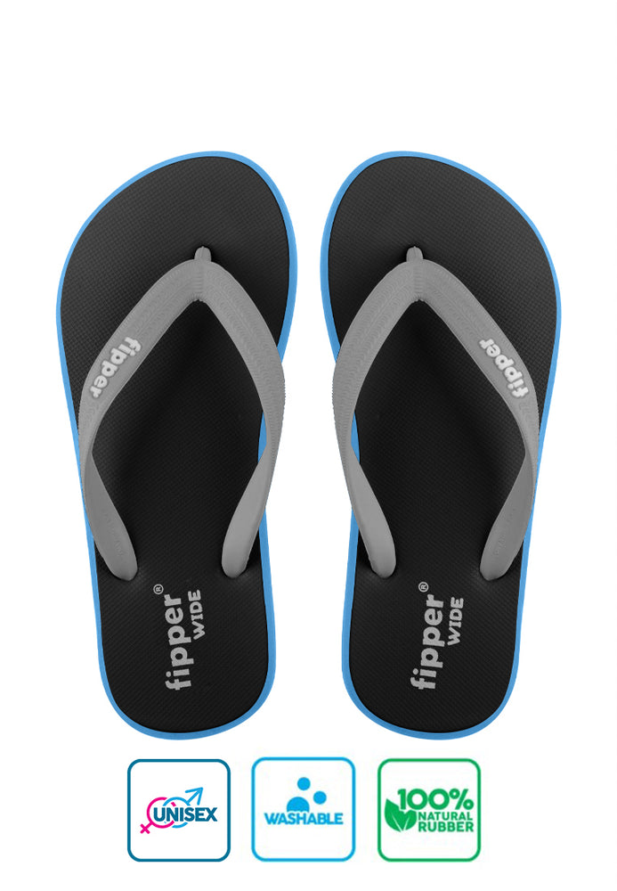 Fipper Wide Black / Blue (Sky) / Grey (Light)