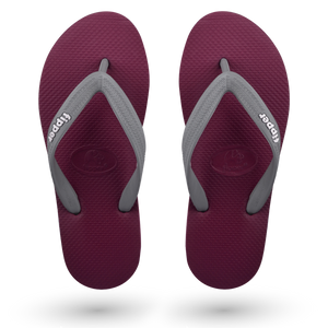 Load image into Gallery viewer, Fipper Slick Maroon / Grey