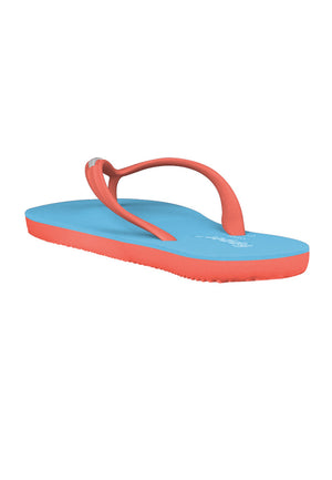 Fipper Slim Rubber for Women in Blue (Sky) / Peach