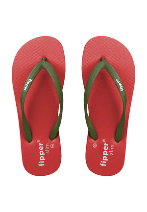 Fipper Slim Rubber for Women in Red / Green (Army)