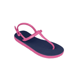 Load image into Gallery viewer, Fipper Strappy Blue (Dark) / Pink