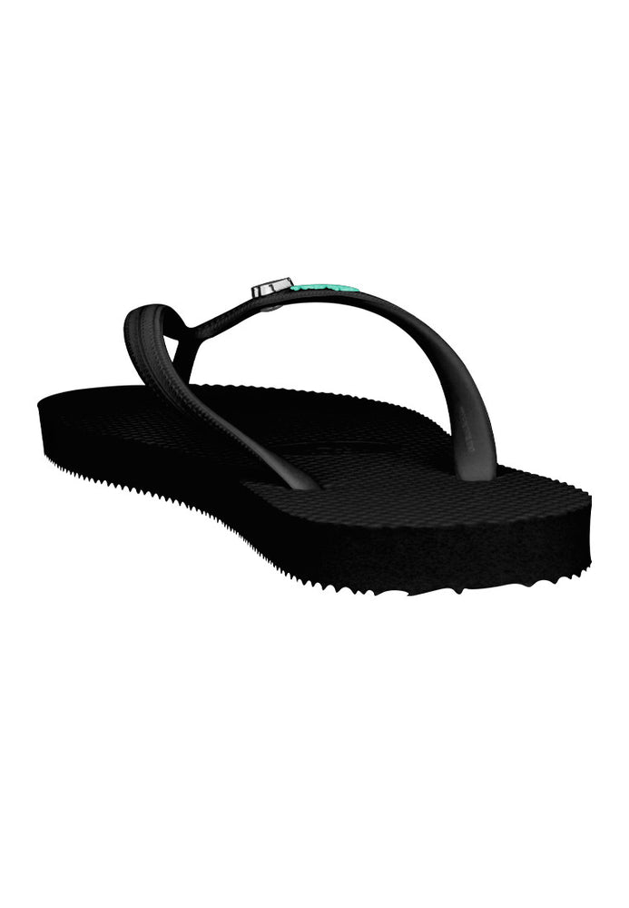 Load image into Gallery viewer, Fipper Glitter Rubber for Women in Black / Turquoise