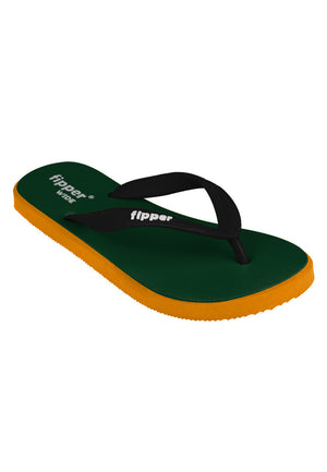 Fipper Wide Green (Emerald) / Mustard / Black