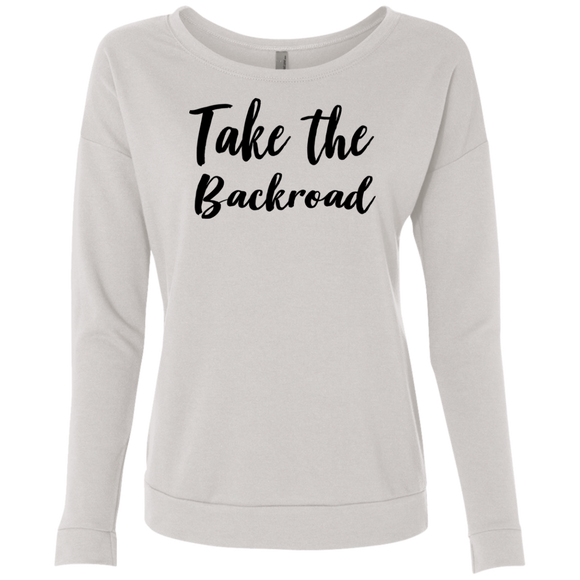 Take The Backroad Ladies' French Terry Scoop
