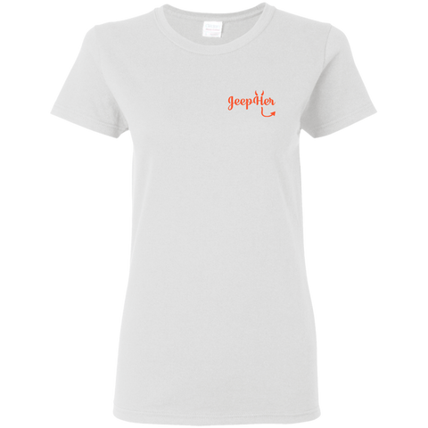 JeepHer Devil Women's fit Tshirt- Orange