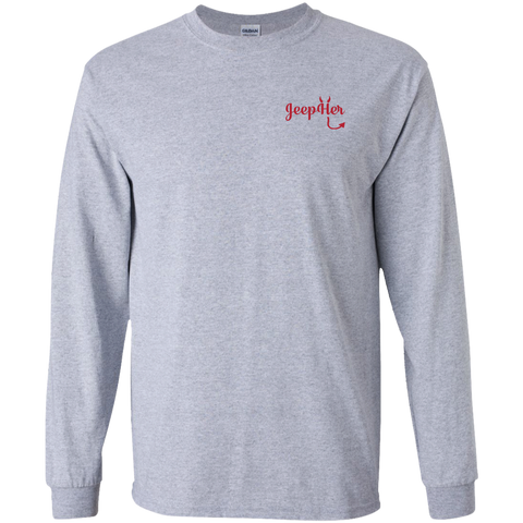 JeepHer Devil Long Sleeve Tshirt- Red