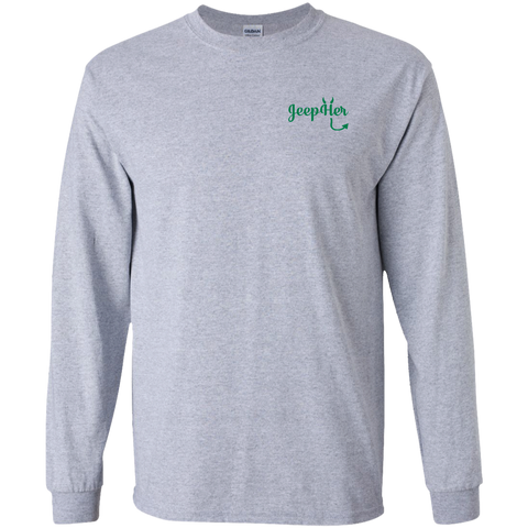 JeepHer Devil Long Sleeve Tshirt- Green
