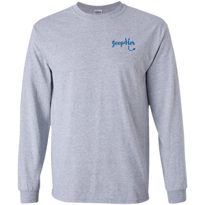 JeepHer Devil Long Sleeve Tshirt- Blue