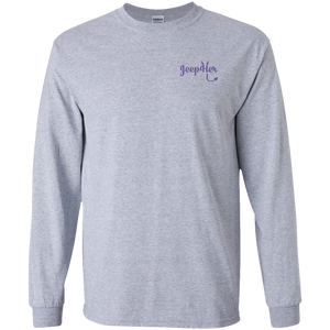 JeepHer Devil Long Sleeve Tshirt- Purple