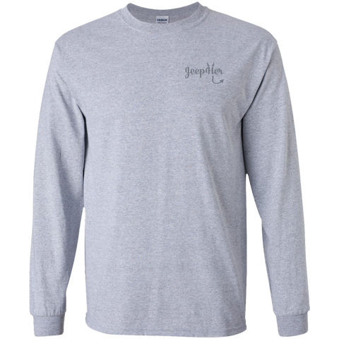 JeepHer Devil Long Sleeve Tshirt- Gray