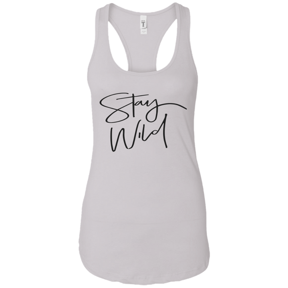 Stay Wild Ladies Ideal Racerback Tank
