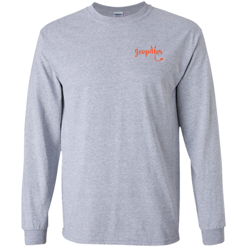 JeepHer Devil Long Sleeve Tshirt- Orange