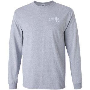 JeepHer Devil Long Sleeve Tshirt- White