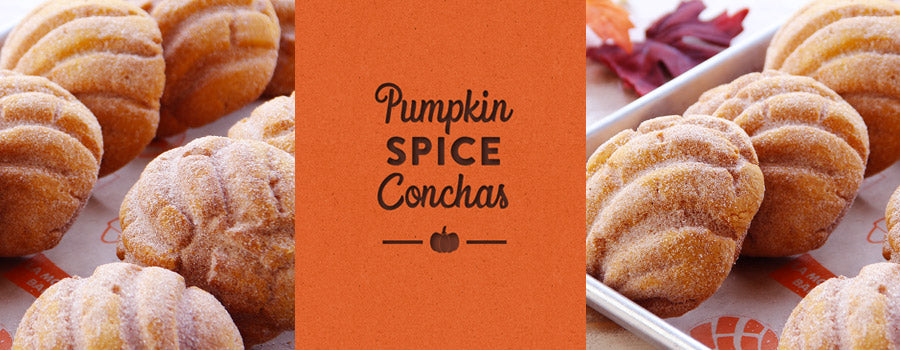 pumpkin conchas, orange center block pumpkin spice conchas