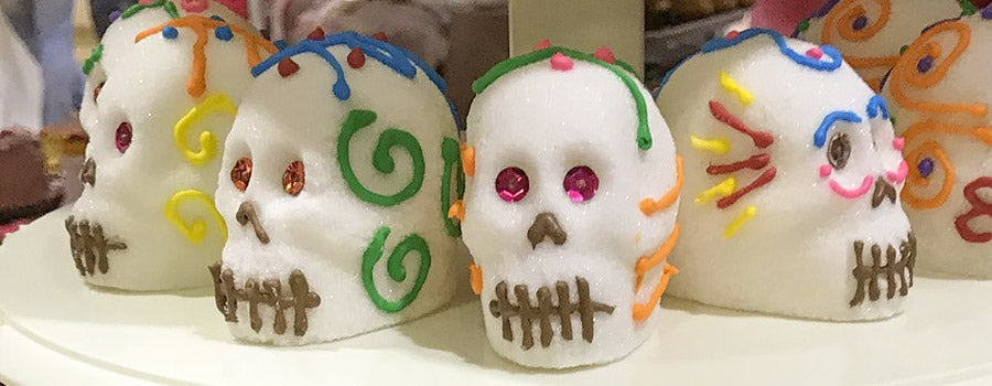 sugar skulls day of the dead calaveras