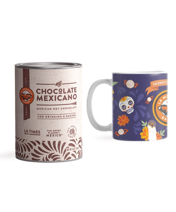 Mexican Hot Chocolate & Day of the Dead Ceramic Mug Gift Set