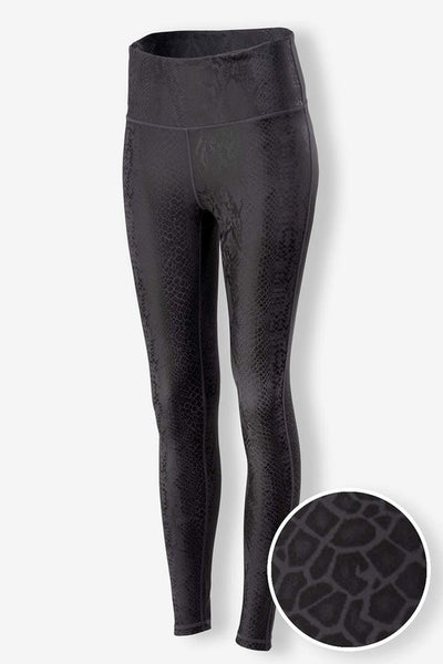 Wild Side Leggings: Black Snake Print