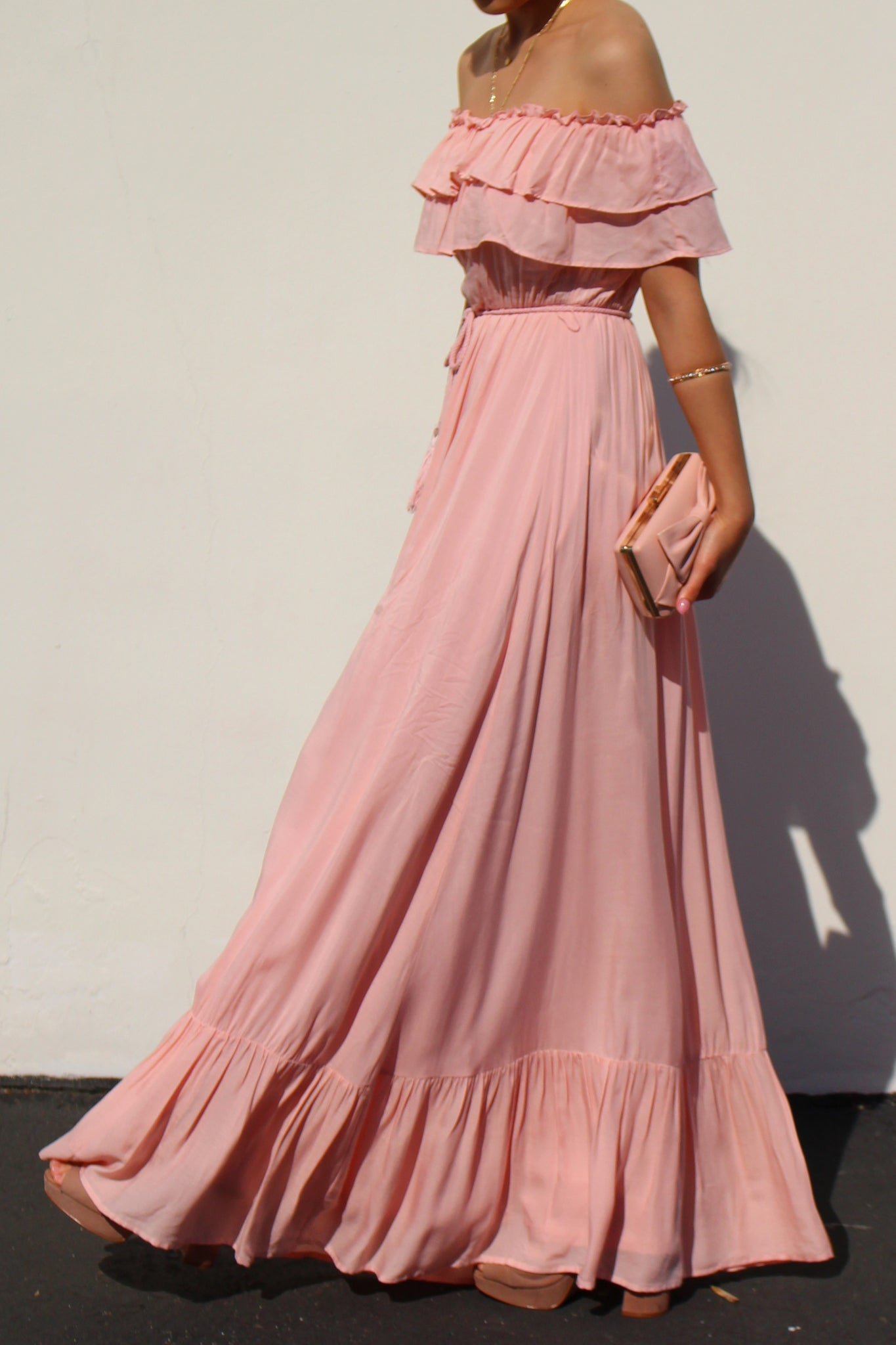 Don't Look Away Dress: Pink