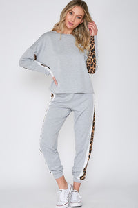 Young & Wild Bottoms: Heather Gray/Leopard