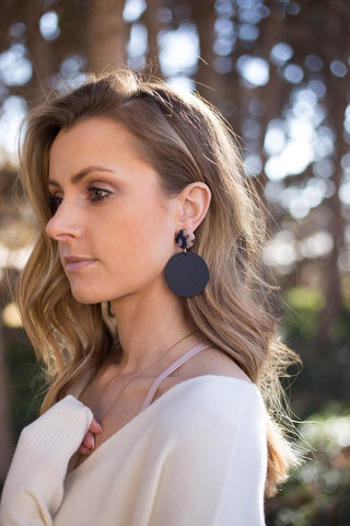 Nothing To Lose Earrings: Black
