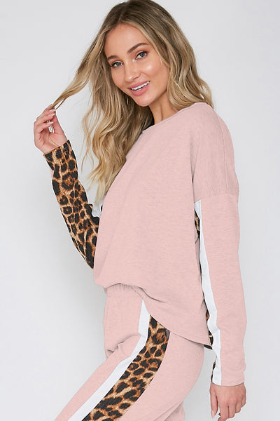 Young & Wild Bottoms: Blush/Leopard