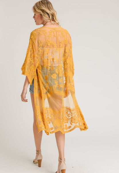 Live The Breeze Duster: Mustard
