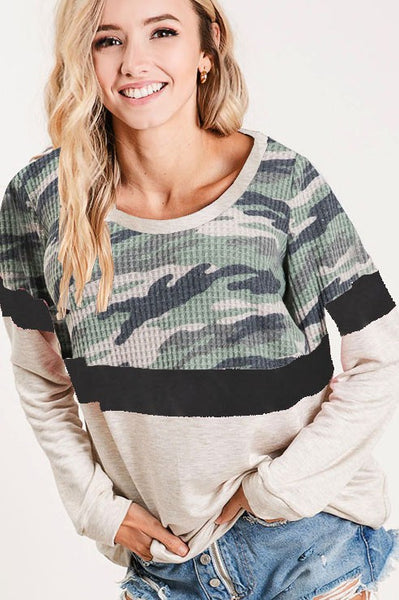 Run Away With Me Top: Olive/Taupe