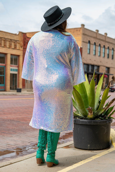 Winter Wonderland Duster: Iridescent