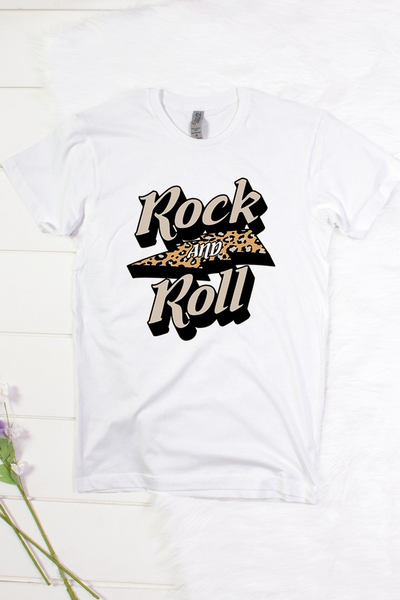 Rock and Roll Tee: White