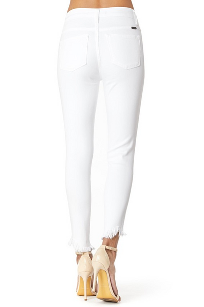 Play It Cool Jeans: White Denim