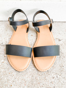 Catch The Ocean Sandals: Black