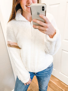 Secret Obsession Sherpa: Ivory/Blush/Mocha