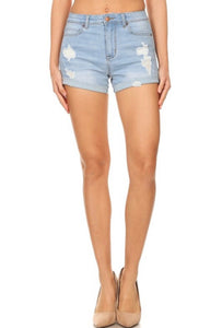 Summer Memories Shorts: Light Denim