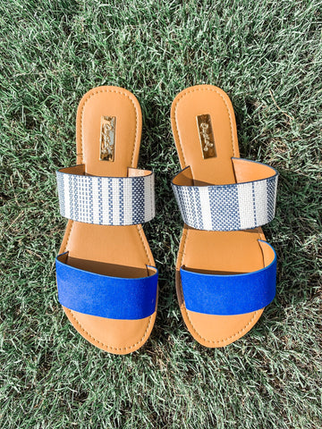 Island Hopping Sandals: Cobalt Blue