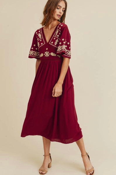 Give Thanks Dress: Merlot