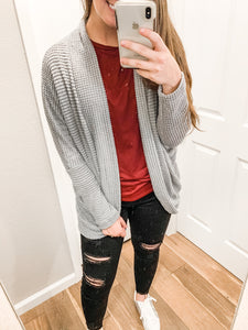 Lets Snuggle Cardigan: Gray