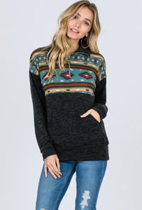 Fall Fever Sweater: Aztec/Teal
