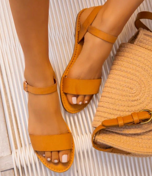 Catch The Ocean Sandals: Tan